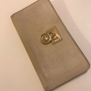 Beige Michael Kors Women's Wallet